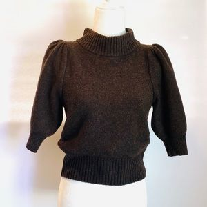 Free People Brown Cropped Sweater
